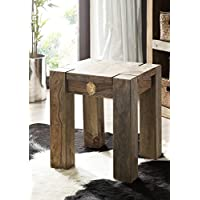 MASSIVMOEBEL24.DE Sheesham Massivholz Hocker Palisander Möbel massiv Holz Nature Grey #10 preisvergleich bei kinderzimmerdekopreise.eu