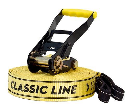 Gibbon, Set Slackline Classic Line X13, Giallo (gibbon gelb), Taglia unica