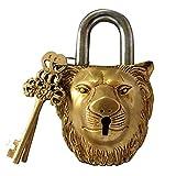 Lion Face Typ–Vorhängeschloss–Schloss mit Schlüssel, Messing, aus Messing Segen (5044)