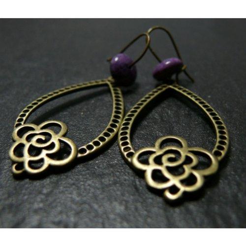 boucle-doreille-bella-donna-violette