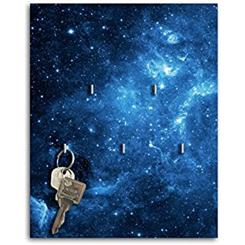 Portachiavi da parete con Design stelle blu nebbia chiave Board chiavi ganci SB468