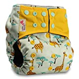 Littles & Bloomz, Reusable Pocket Real Cloth Nappy Washable Diaper Bamboo Charcoal, Pattern 35, Without Insert