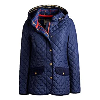 Joules Marcotte Quilted Ladies Jacket (Q) - Navy - 16