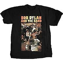 Bob Dylan - La banda / - Basement Tapes de los hombres de la camiseta, Medium, Black