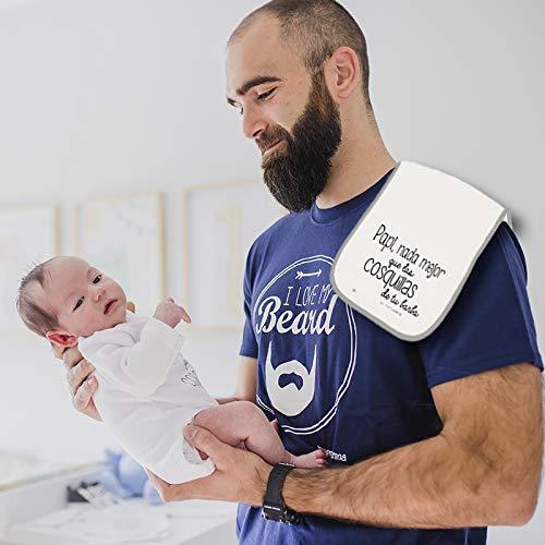 MIMUSELINA Camiseta Barba y Babita Regalo para el Dia del Padre. Secab