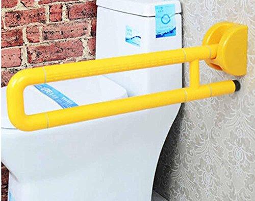 SAEJJ-Christmas giftModetrends, Behinderte barrierefrei klappbare Armlehnen, ältere Toilette WC Bad Handläufe, Sicherheit Handläufe , Yellow