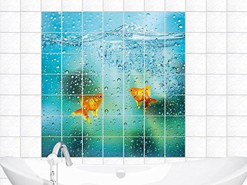 per-piastrelle-adesivi-per-piastrelle-acqua-pesce-rosso-piastrelle-bagno-piastrella-20x20cm-immagine