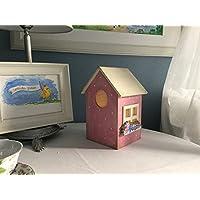 Lámpara infantil casita de pájaro rosa