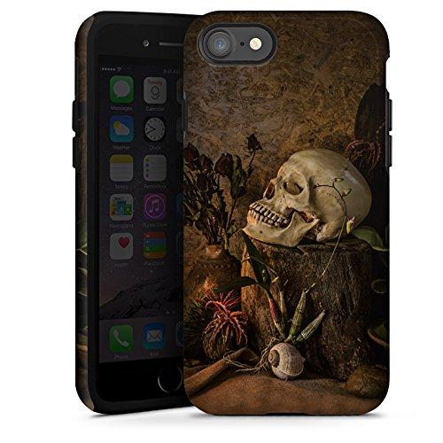 Apple iPhone X Silikon Hülle Case Schutzhülle Tod Schädel Totenkopf Tough Case glänzend