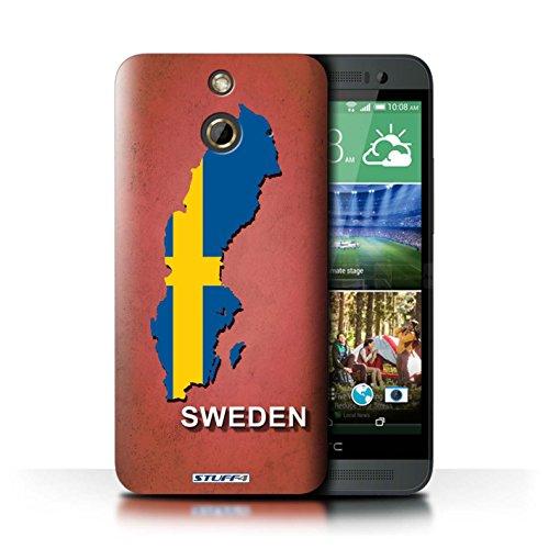 Kobalt® Imprimé Etui / Coque pour HTC One/1 E8 / Amérique/Américain/USA conception / Série Drapeau Pays Suède/Suédois
