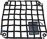 lasiprofi PKW Ladungssicherungsnetz aus Gurtband 0,9 x 0,9 Meter Grau