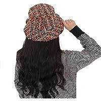 GHC Gorras y Sombreros Las Mujeres tejen el Sombrero Plegable Chunky Baggy Hat al Aire Libre Salvaje Cap Corto Pot (Color : Café, Size : Freesize)