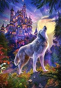 CASTORLAND Wolf Castle Puzzle - Rompecabezas (Puzzle Rompecabezas, Fantasía, Niños y Adultos, Lobo, Niño/niña, 9 año(s))