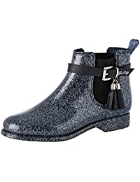 Be Only Cristina Glitters Marine, Bottines Chelsea Femme