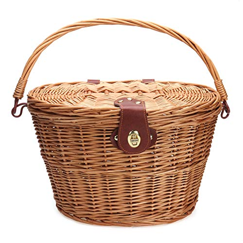 Classic Wicker (Kungfu Mall Classic Removable Wicker Cycling Bike, Basketball, mit Cover)