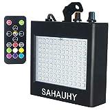 Luz Estroboscópica,SAHAUHY 25W 108 LED Super brillante de luz estroboscopio con control remoto (Negro 108)