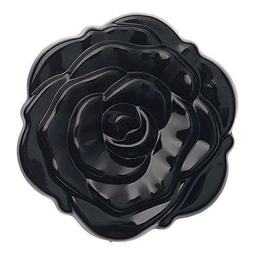 Miroir cosmétique rose 3D- sac à main femme ni double face compact pliant - noir, small