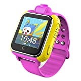 Bambini GPS Smart Watch, ZIMINGU V83 Bambini GPS Tracking Watch, Supporto 3G SIM Voice Chating Camera Alarm Clock WIFI Posizionamento Speed Dial SOS Chiamata Location Finder Wearable Device-Android iO (rosa)