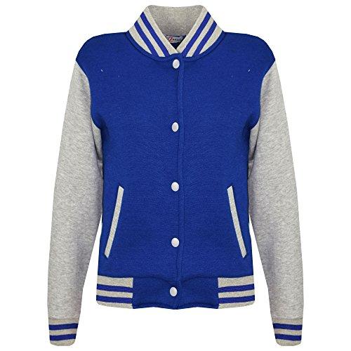 A2Z 4 Kids® Kinder Mädchen Jungen BASEBALL JACKE VARSITY Stil Mode Einfach SCHULE JACKEN TOP Alter 5-13 Jahre - Alter Mantel