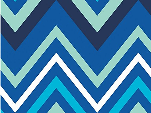Camelot Stoffe Singin 'The Blues Chevron Popeline Quilting Stoff royal – Pro Fat Quarter + Frei Minerva Crafts Craft Guide (Blue Chevron-stoff)