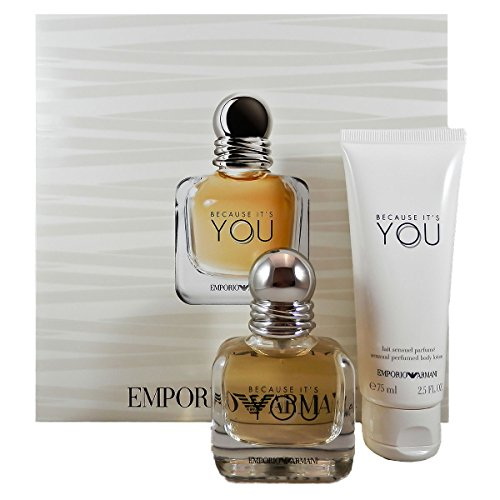 emporio armani you Giorgio Armani Because It`s You femme/woman Set, Eau de Parfum (30 ml), Bodylotion (75 ml)
