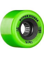 Bones ATF Rough Riders Juego de 4 Ruedas de Monopatín, Verde, ...