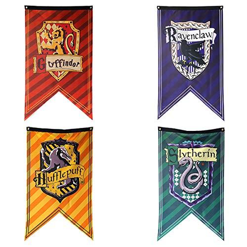 TPOTTER 4pcs[125X70CM] Geburtstags Fahnen und Flaggen für Harry Party Dekorations Töpfer Potter Geschenk Versorgungen Flag und Banner Dekor
