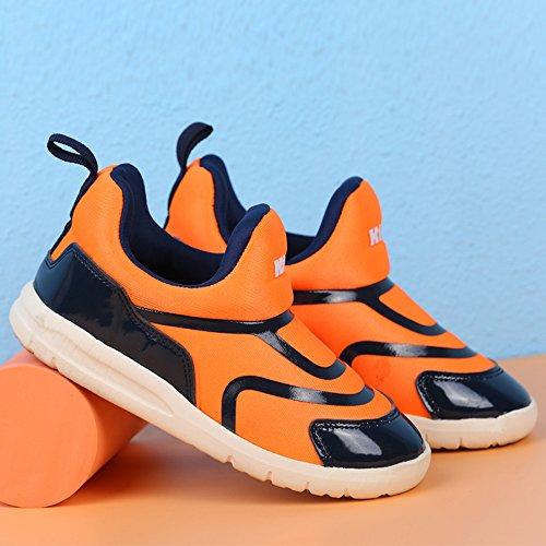 VILOCY Babyschuhe Mädchen Jungen Lauflernschuhe Sneaker Trainer Schuhe Orange