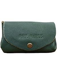 LE GUSTAVE cartera de cuero, monedero estilo vintage color Verde PAUL MARIUS