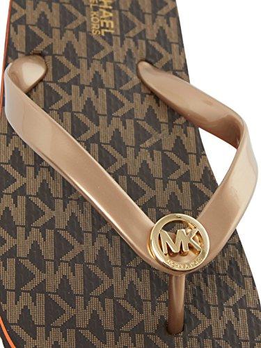 MICHAEL Michael Kors Scarpe MK Logo Infradito Marrone Donna Marrone