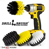 The four brushes featured in this Power Scrubber kit are designed for use with most cordless drills and drivers. All four brushes feature rugged steel shafts and use quarter inch quick change ends. The Drill is NOT included. These brushes should cut ...