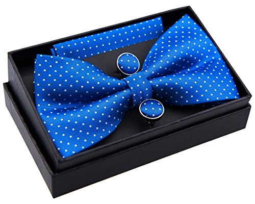 Retreez - Nœud papillon - À Pois - Homme blau mit weiß punkten