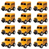 """Liberty Imports 12 Pack in Box Chubby School Bus Model Toys 