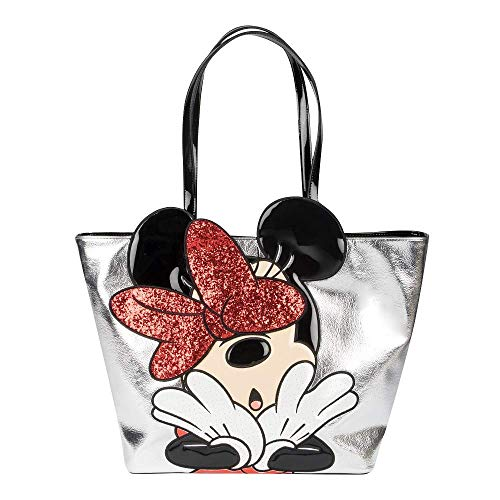 Front Pocket Tote (Danielle Nicole - Silber Tote Taschen Disney Minnie Mouse)