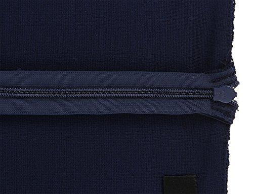 ANNN Femmes Robe de Dentelle Vintage Costume Business Midi Robe Bleu profond