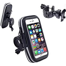 VSOAIR Giratorio de 360 Grados de la Bicicleta de la Motocicleta Impermeable o Barra de la Manija de la Bolsa Funda Soporte para iPhone 6, 6 Iphone Plus 5,5 Pulgadas