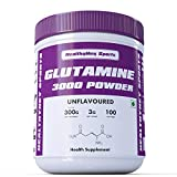 #9: HealthyHey Sports 100 Servings Glutamine Powder for Muscle Growth and Recovery (Unflavoured, 300g)