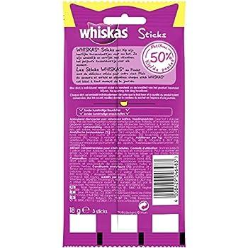 Whiskas Friandises en Bâtonnet au Poulet pour Chat, 84 Sticks (28 Sachets de 3 Récompenses)