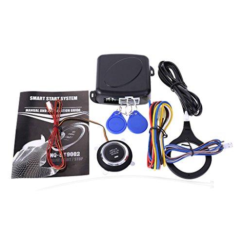 FlowerPEI 1 Set Auto Auto Anti-Dieb Alarm Keyless Remote Entry System Kits Motor Push Starter Host Push Start Stop Button RFID Lock Zündschalter Sensor Ring (Auto-remote-starter-kit)