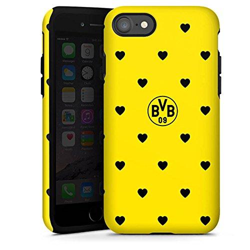 Apple iPhone X Silikon Hülle Case Schutzhülle Borussia Dortmund BVB Herzen Tough Case glänzend