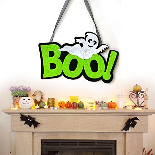 cosyhouse Halloween Hanging Sign Dekorationen Spider Ghost Ornament EEK Boo Zeichen Plaketten Für Outdoor Yard Spukhaus Party Supplies Decor