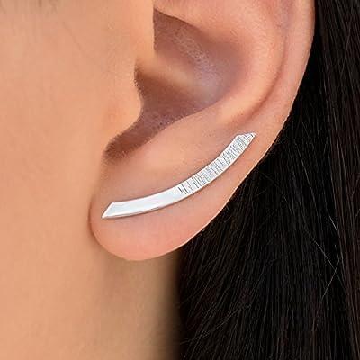 Boucles d'oreilles minimalistes, boucles d'oreille en argent sterling, bagues d'oreille, minimal bagues d'oreille, boucles d'oreilles hypoallergéniques
