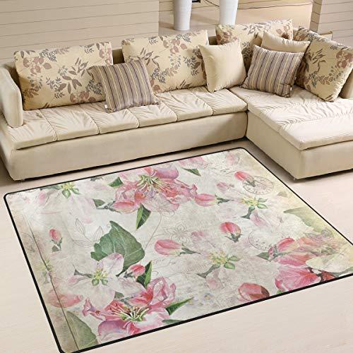 SnowXXL Floral Vintage Teppich Wohnzimmerteppich Schlafzimmer Teppich für Kinder Spielteppich Massiv Home Decorator Boden Teppich und Teppiche 203,2 x 147,2 cm, bunt, 160 x 122 cm (Shag Floral Teppiche)