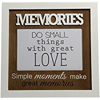 Moderne Sprüche Bilderrahmen Für 10x15 Cm Memories Family Smile Foto  Rahmen: Farbe: Memories
