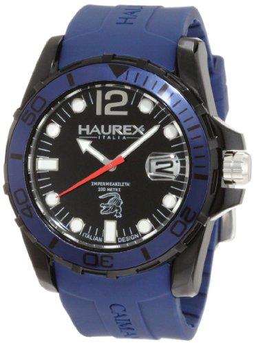 Haurex Italy - N1354UNB - Montre Homme - Quartz Analogique - Bracelet Caoutchouc Bleu