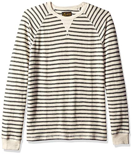 Stripe Long Sleeve Thermal (Lucky Brand Herren Long Sleeve SMALL Stripe Thermal T-Shirt, Multi, Mittel)