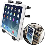 "[Lifetime Warranty] Okra® Universal Tablet Air Vent Car Mount Holder with 360° Rotating swivel compatible w/ Apple iPad, Samsung Galaxy Tab, and all Tablet Devices 7"" to 11"" (Retail Packaging)"
