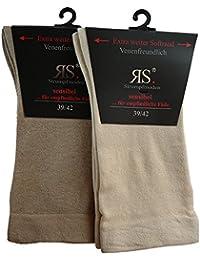 4 Paar Socken Ohne Gummi Gummizug von RS Venenfreundlich Extrem weiter Softrand Baumwolle Keine Druckstellen mehr an den Beinen