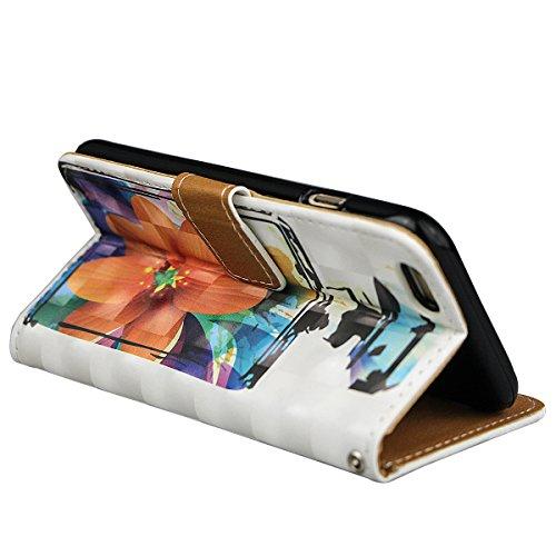 """xhorizon TM Premium PU parfum cuir bouteille fleur motif portefeuille magnétique cas stand flip avec des fentes de cartes pour iPhone 6(4.7"""") #11"""