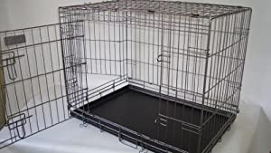 "Fold flat 42"" dog cage EC42 + bed by Doghealth"